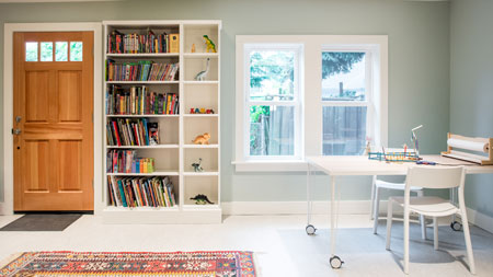 Remodeled Daylight Basement and Craft Room Seattle