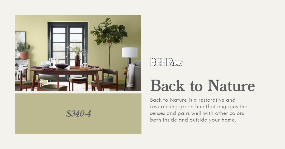 Behr 2020 COTY - Back to Nature