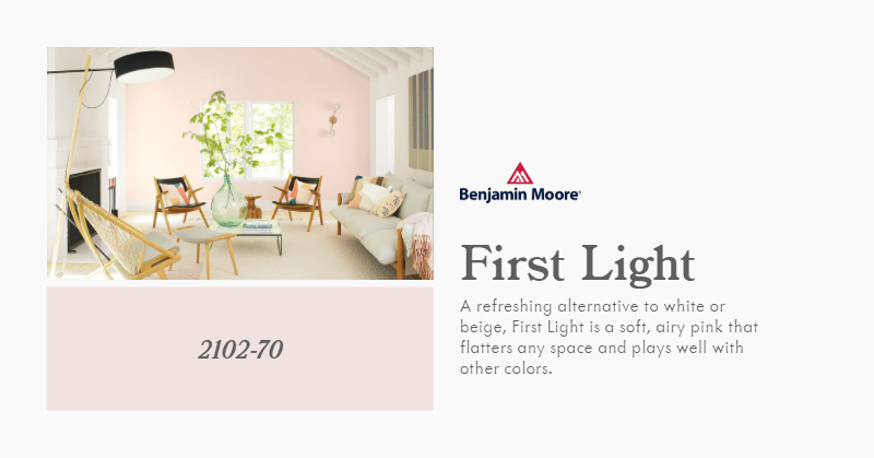Benjamin Moore 2020 COTY - First Light (1)