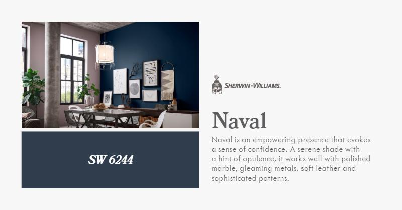Sherwin Williams 2020 COTY - Naval