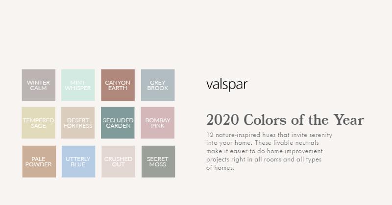 Valspar 2020 COTY - Palette (1)