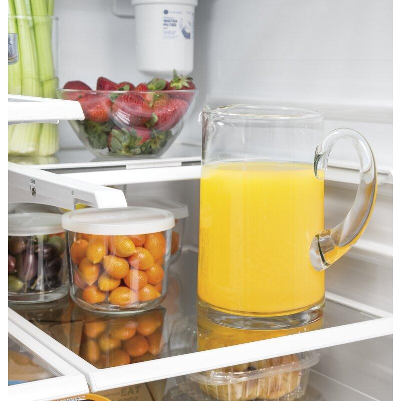 An organized refrigerator interior