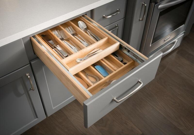 Two-tier drawer organizer