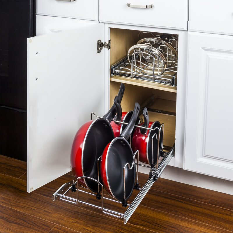 Vertical storage for pots and pans