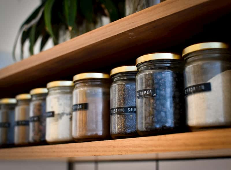 Pantry and spice storage in very small kitchen