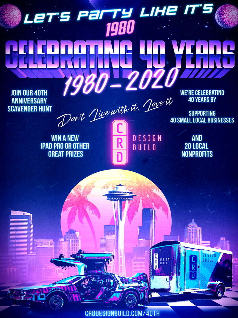 40th Anniversary 80s Poster - 800px