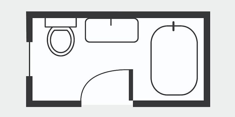 10 Essential Bathroom Floor Plans, Small Bathroom Plan