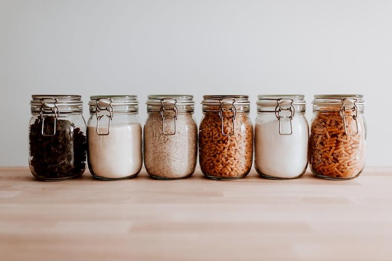 Jars of Food in Pantry