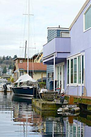 Seattle Houseboat Being Remodeled