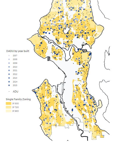 221 Existing DADUs in Seattle as of 2016