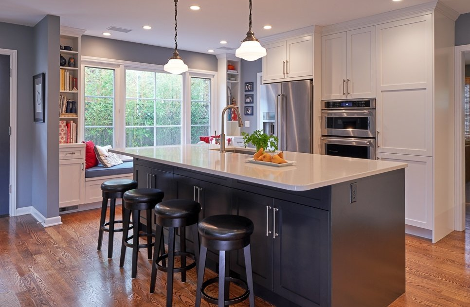 five-piece shaker kitchen cabinets, center panel kitchen design cabinetry