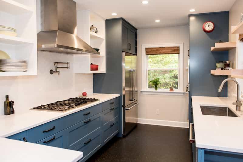 Marmoleum in remodeled Seattle kitchen