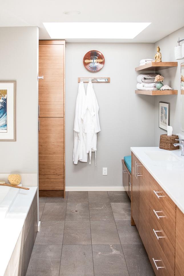 Spa-like bathroom Edmonds Washington