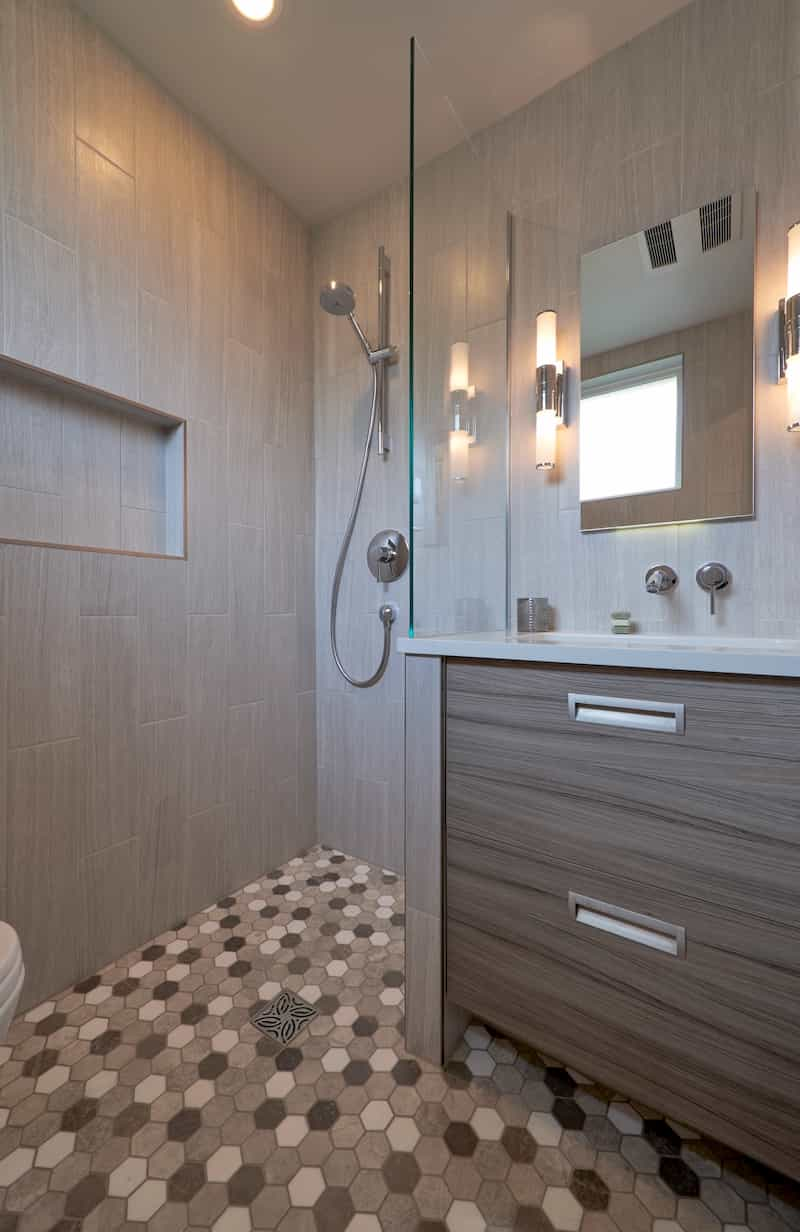 Wet bathroom - Seattle remodel