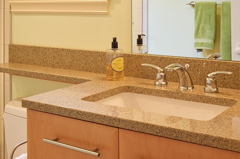 Quartz bathroom countertop Seattle