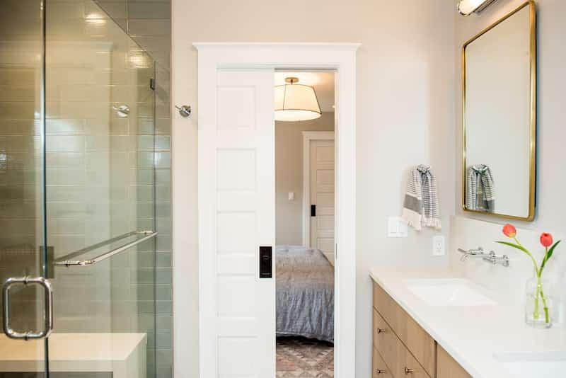Glass shower door enclosure