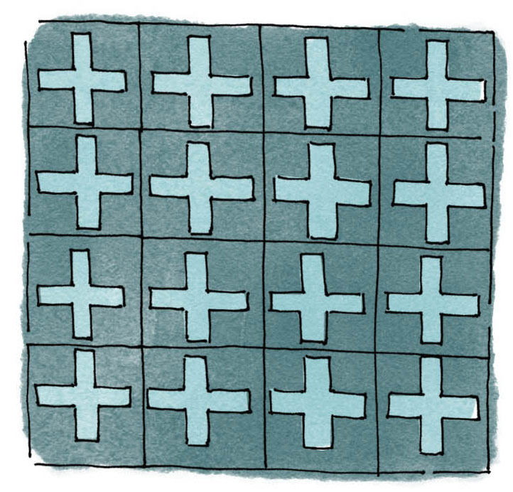 Encaustic Cement Tile Illustration