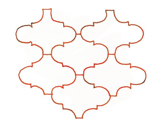 Lantern Tile Pattern Illustration