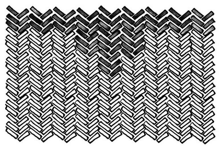Mini Herringbone Tile Pattern