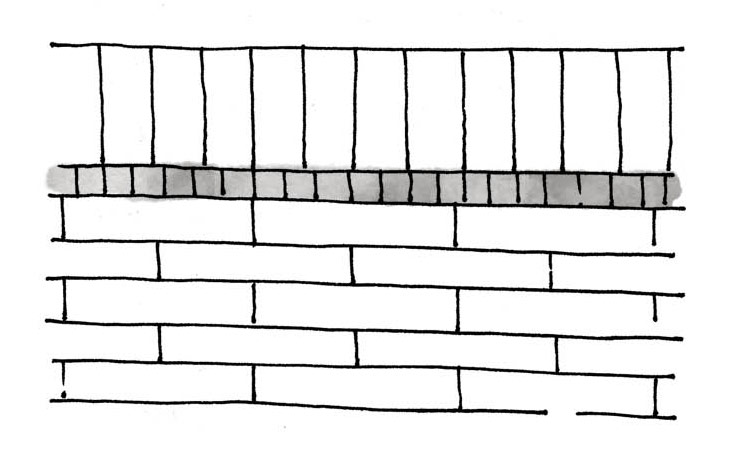 Varied Size Ceramic Tile Pattern