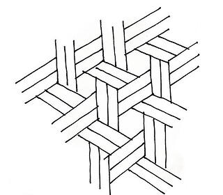 pre-cut chevron tile pattern