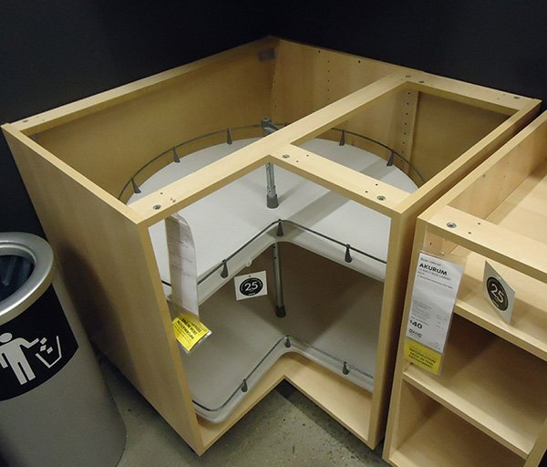 corner cabinet lazy susan