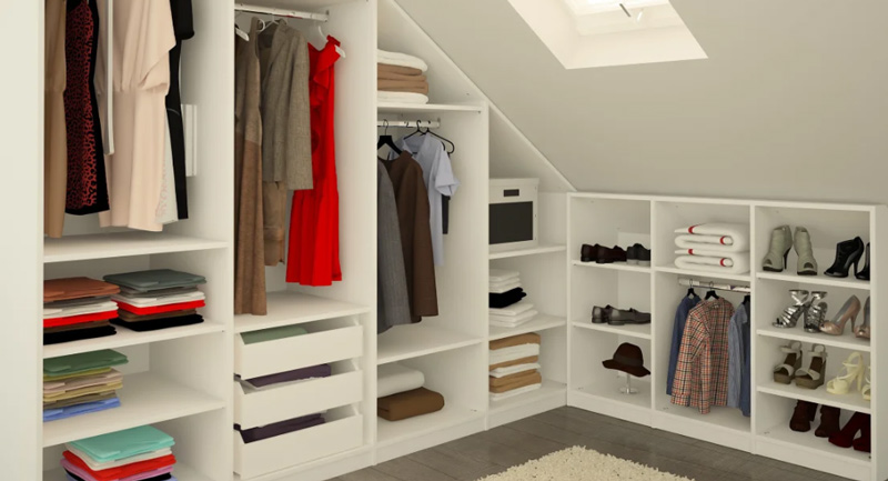 closet design, closet dimensions, middle layout, storage depths, floor space