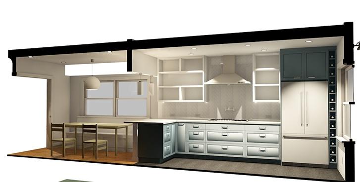 BIMX Rendering of Seattle Kitchen Remodel