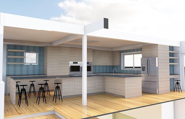 BIMx Archicad Seattle Kitchen Remodel Rendering