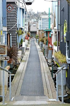 Seattle Houseboat Walkway