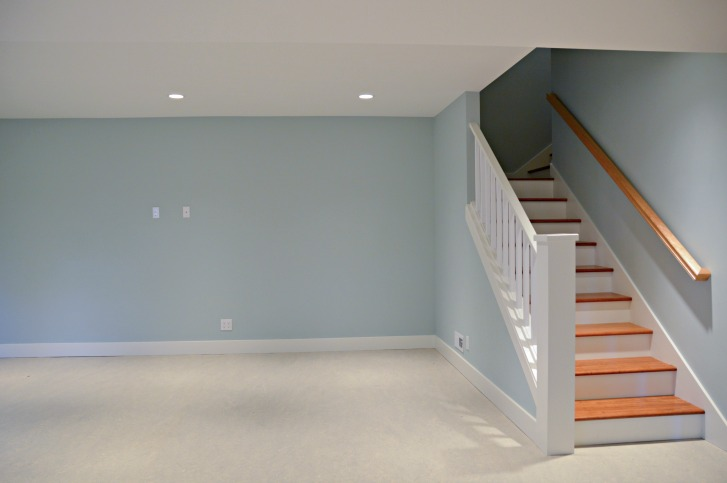 Stairs to Remodeled Daylight Basement