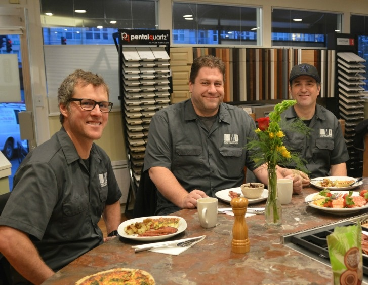 Mohler Tile Team at Seattle Subcontractor Breakfast