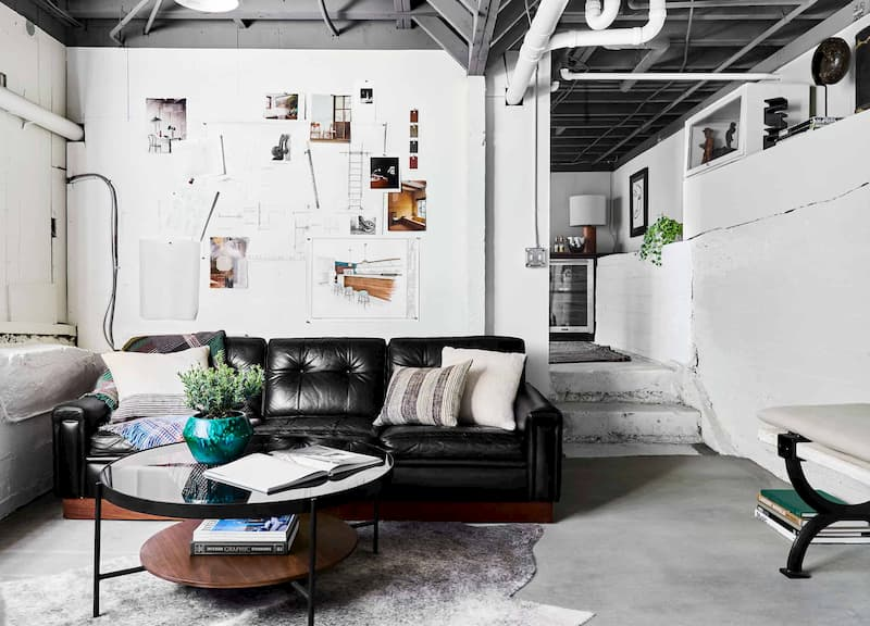 10 Partially Finished Basement Ideas, How To Finish A Basement On Small Budget
