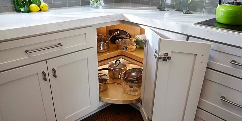 What To Do With The #%$@ Corner Cabinet? Kitchen Corner Cabinet Design